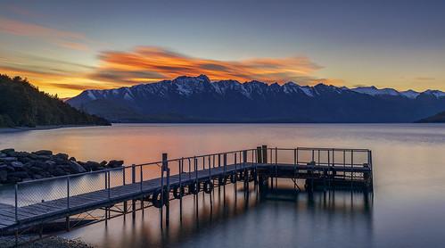 Sunrise Over Sunshine Bay Reserve, Queenstown, New Zealand