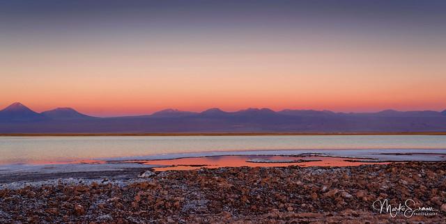 Burning sky over Atacama