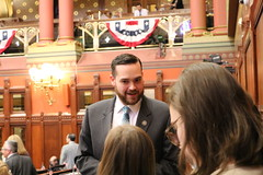 Rep. Davis speaks with Ellington Girl Scouts at the Capitol