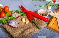 Vegetables Mix On Background