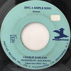 CHARLIE EARLAND:RAINDROPS KEEP FALLING ON MY HEAD(LABEL SIDE-B)