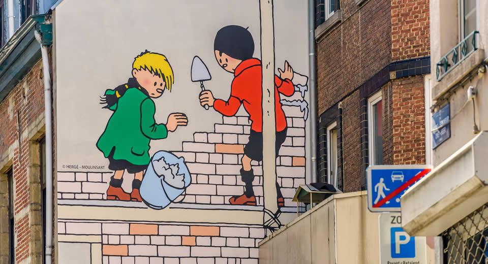 Zondag in Brussel: stripmuren in de Marollen | Mooistestedentrips.nl