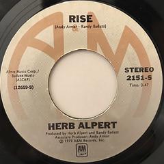 HERB ALPERT:RISE(LABEL SIDE-A)