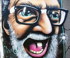 Posto graffiti bearded man cu