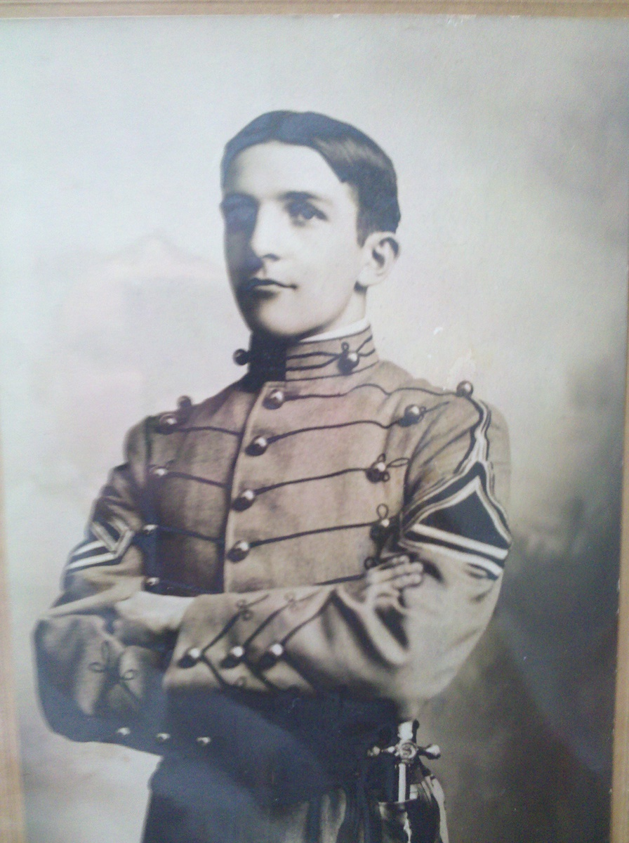Douglas MacArthur as a cadet at the United States Military Academy, West Point, New York, circa 1900.