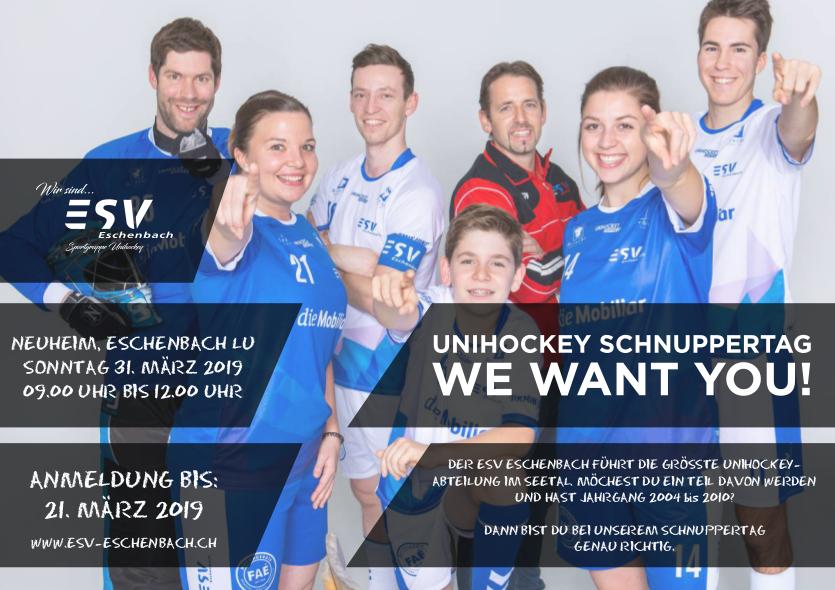 Unihockey Schnuppertag am 31. März 2019