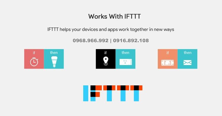 Hoạt động với IFTTT
