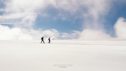 walking among clouds