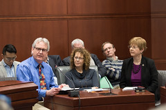 State Representative Tami Zawistowski (R-61) joined Rev. Bridget Fidler and Gerry LaPlante of First Church Congregational of Suffield and Rev. Tom Carr and David Battle from Second Baptist Church of Suffield to testify in support of HB 5181 'An Act Exempting Certain Facilities from the Natural Gas Demand Use Charge' before the Energy and Technology Committee on February, 21st.