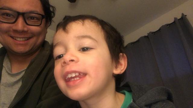 Selfie with Ezra (32 months)