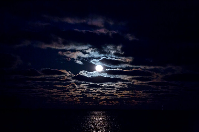 Moonlight Over Lake Michigan