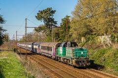 20 mars 2019 BB 60087 Train 434682 Bordeaux-Hourcade -> Périgueux Vayres (33) - Photo of Saint-Germain-de-la-Rivière