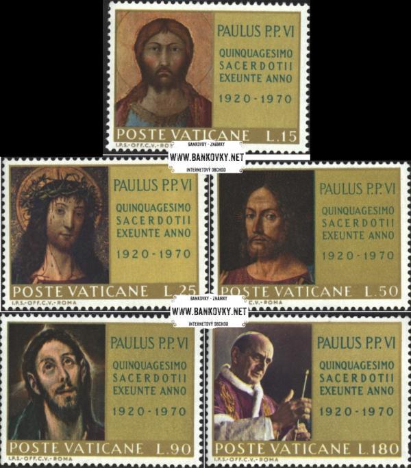 Známky Vatikán 1970 Výročie, neraz. séria