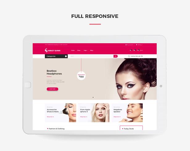 Ap Harleyquinn Organic Cosmetic Prestashop Theme - Fully responsive