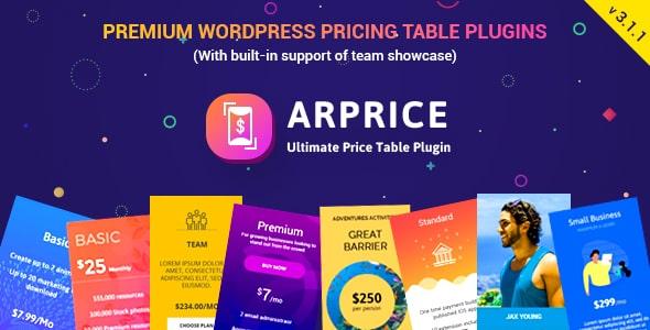 ARPrice v3.1.1 - Ultimate Compare Pricing table plugin