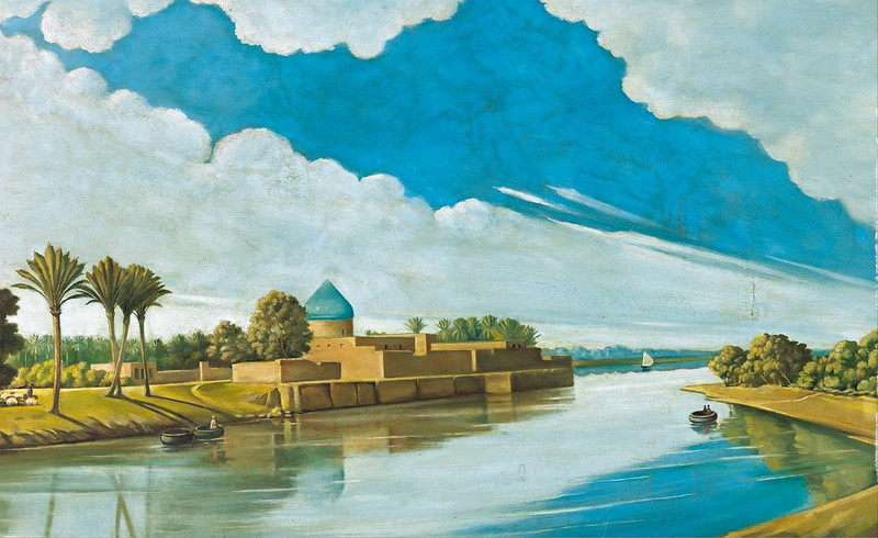 Abdul Qadir al-Rassam - River Scene on the Banks of the Tigris (1920)