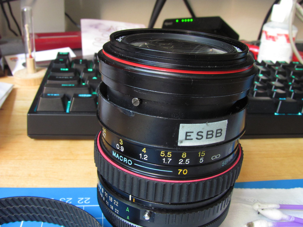 Tokina SD 28-70mm lens focus ring repair