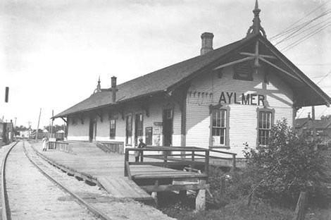 Aylmer Station 1914