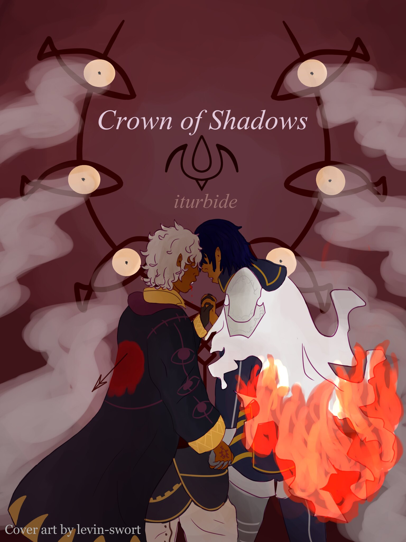 Crown of Shadows Coverplate Illustration by levin-swort