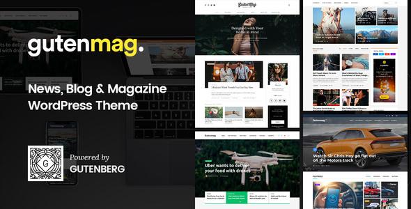 GutenMag v1.1.6 - Gutenberg Theme for Magazine and Blog