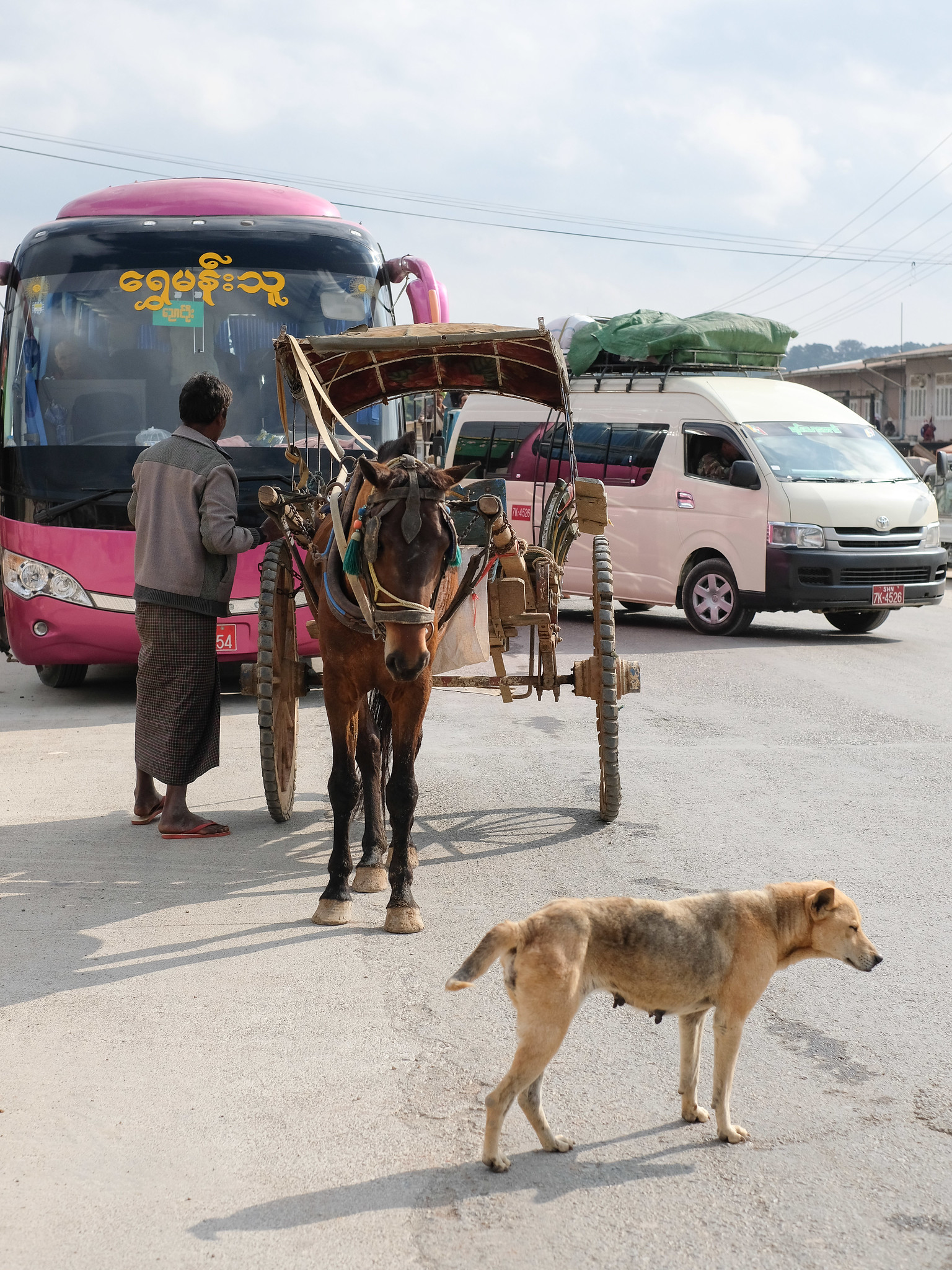 Myanmar #6, Busfahrt nach Bagan