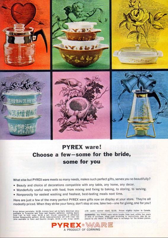 Pyrex ware 1964