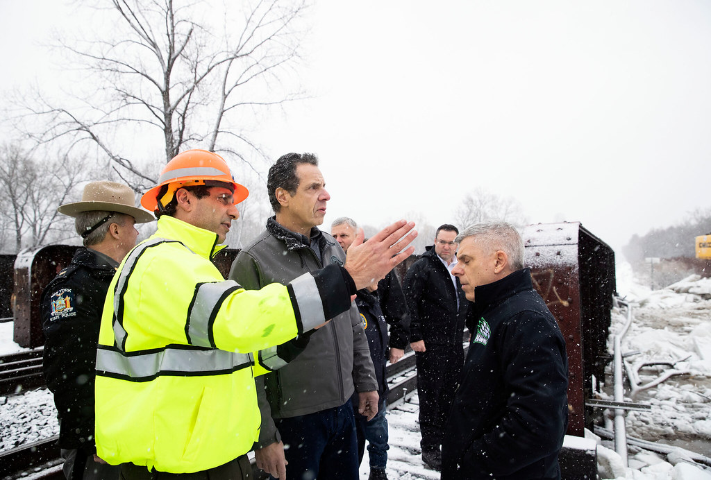 Governor Cuomo Holds Weather Briefing in Whitesboro