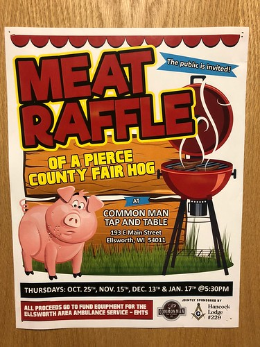 Meat Raffle Poster