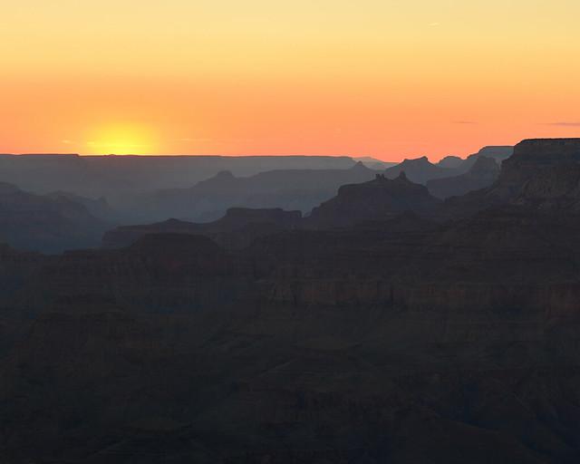 Puesta de sol en el Gran Cañon del Colorado