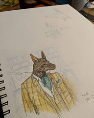 Detective Anubis #creatuanary2019 Based on a photo of super handsome model Fausto - with thanks to @leguape