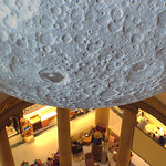 Moon at the Harris Museum looking down