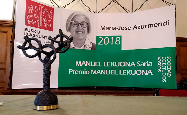 Manuel Lekuona Saria 2018. Maria-Jose Azurmendi