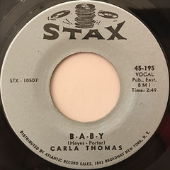 CARLA THOMAS:B-A-B-Y(LABEL SIDE-A)