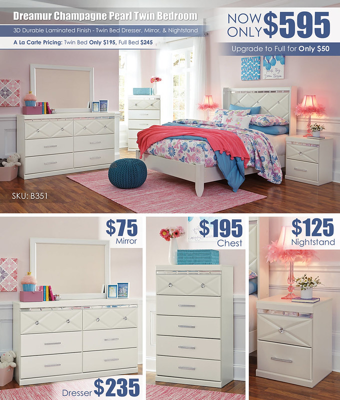 Dreamur Champagne Twin Bedroom Set_B351_Layout
