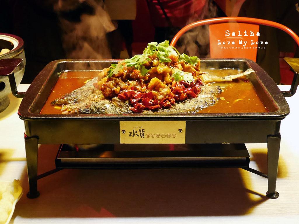 台北水貨炭火烤魚小巨蛋店火鍋餐廳好吃ig打卡推薦超厲害海鮮蝦子火鍋 (7)