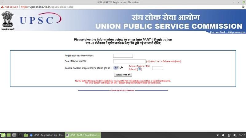 UPSC IES / ISS Application Form 2019 - Part II Registration Login