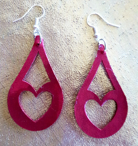 Teardrop Shaped Valentine Earrings 1