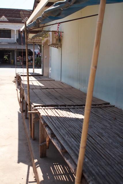 empty market Sahatsakhan Thailand