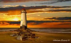 Point of Ayr Lighthouse Sunset