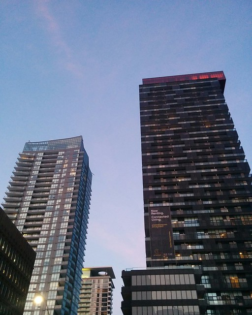 Towers against periwinkle sky #toronto #yongeandeglinton #yongestreet #towers #skyline #evening #periwinkle #blue #latergram