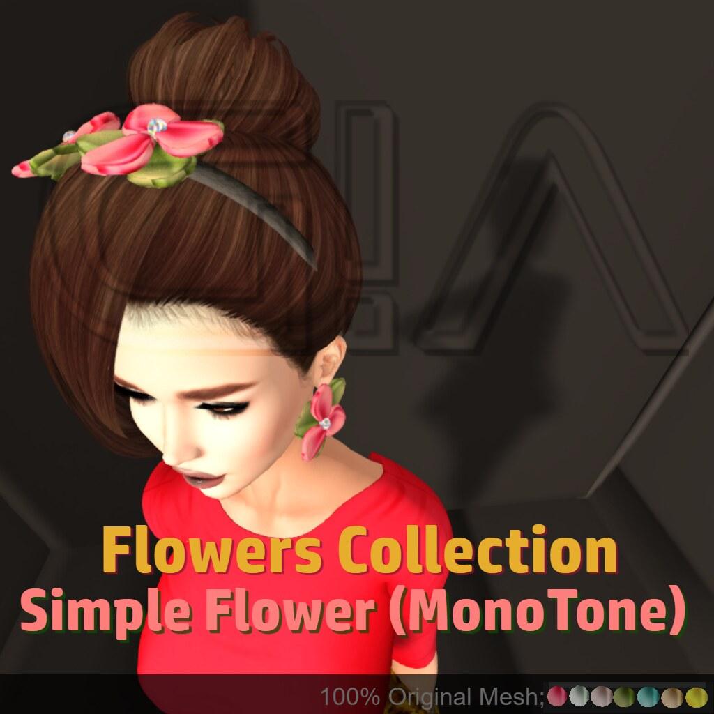 Simple Flower MonoTone Vendor
