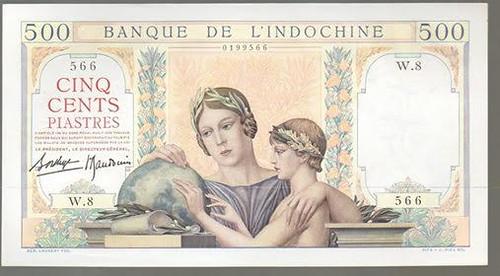Banque De L'Indochine 500 Piastre face