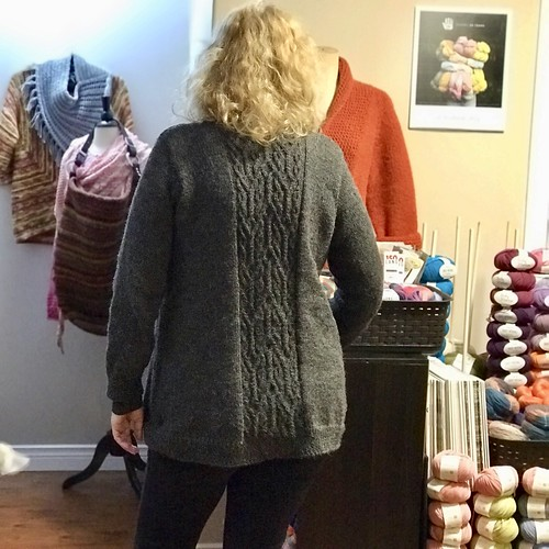 Back of Linda's Groot's Cardigan of the Galaxy