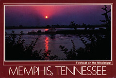 IMG_0019 Memphis Tennessee Towboat on the Mississippi River. Postcard from Worldwide Travels to Geoff & Jean Spafford 15 Aug 1989