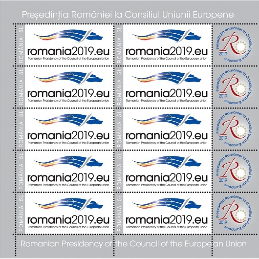 Romania - Council of the European Union Presidency (January 4, 2019) sheet of 10