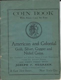 Negreen 1903 Coin Book