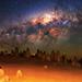 Milky Way over The Pinnacles Desert, Western Australia by inefekt69