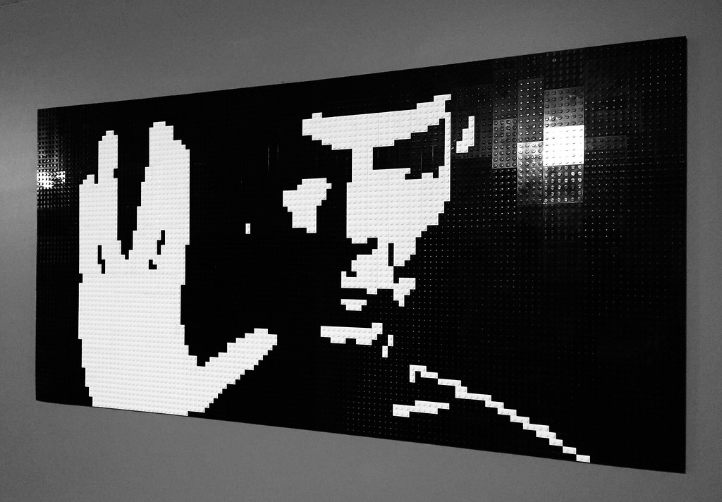 """Spock:  Live Long and Prosper"" - Lego Mosaic"
