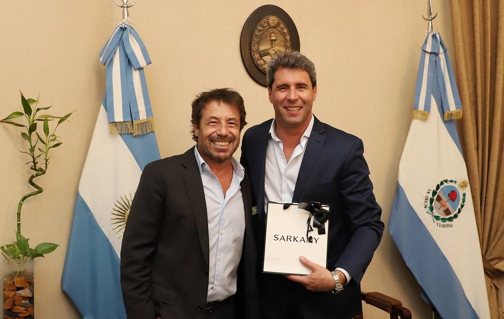 2019-03-14 PRENSA: Sergio Uñac recibió a Ricky Sarkany, principal orador de las Jornadas EMPREZAR