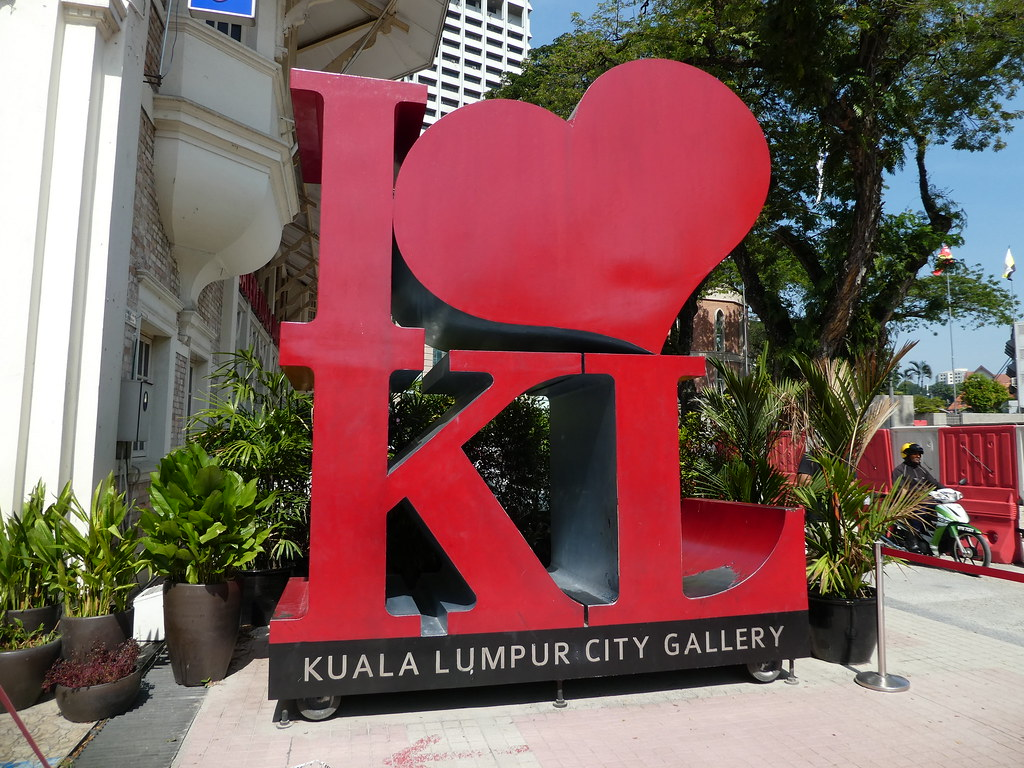 Iconic sign outside the Kuala Lumpur City Gallery